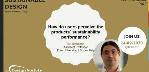 Webinar: How do users perceive the products´ sustainability performance?