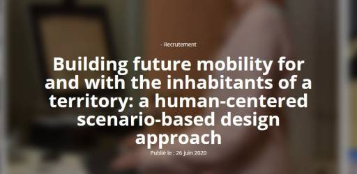 Building future mobility for and with the inhabitants of a territory: a human-centered scenario-based design approach