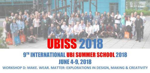 9th International UBI Summer School 2018 (UBISS 2018)