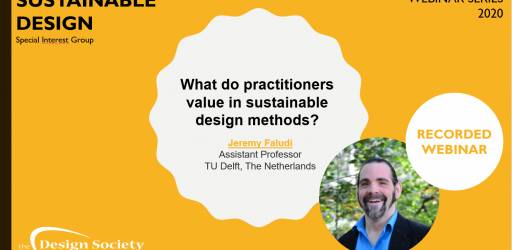 WATCH What do practitioners value in sustainable design methods?
