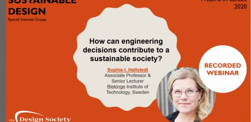WATCH How can engineering decisions contribute to a sustainable society?