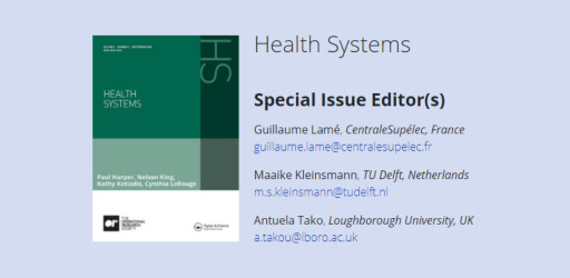 Special Issue on Using Participatory Systems Approaches to Improve Healthcare Delivery