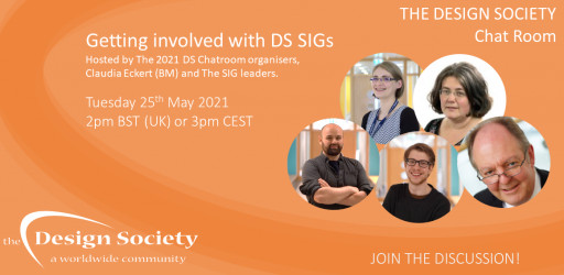 The Design Society Chat Room: Getting involved with DS SIGs