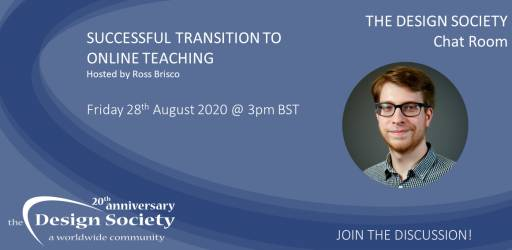Watch: The Design Society Chat Room: Successful Transition to Online Teaching
