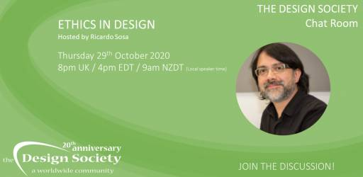 Watch: The Design Society Chat Room: Ethics in Design